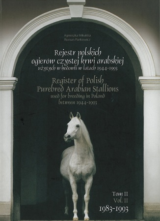 Portada del Libro Registro de Sementales árabes Polacos. Foto de archivo de Polskiearaby