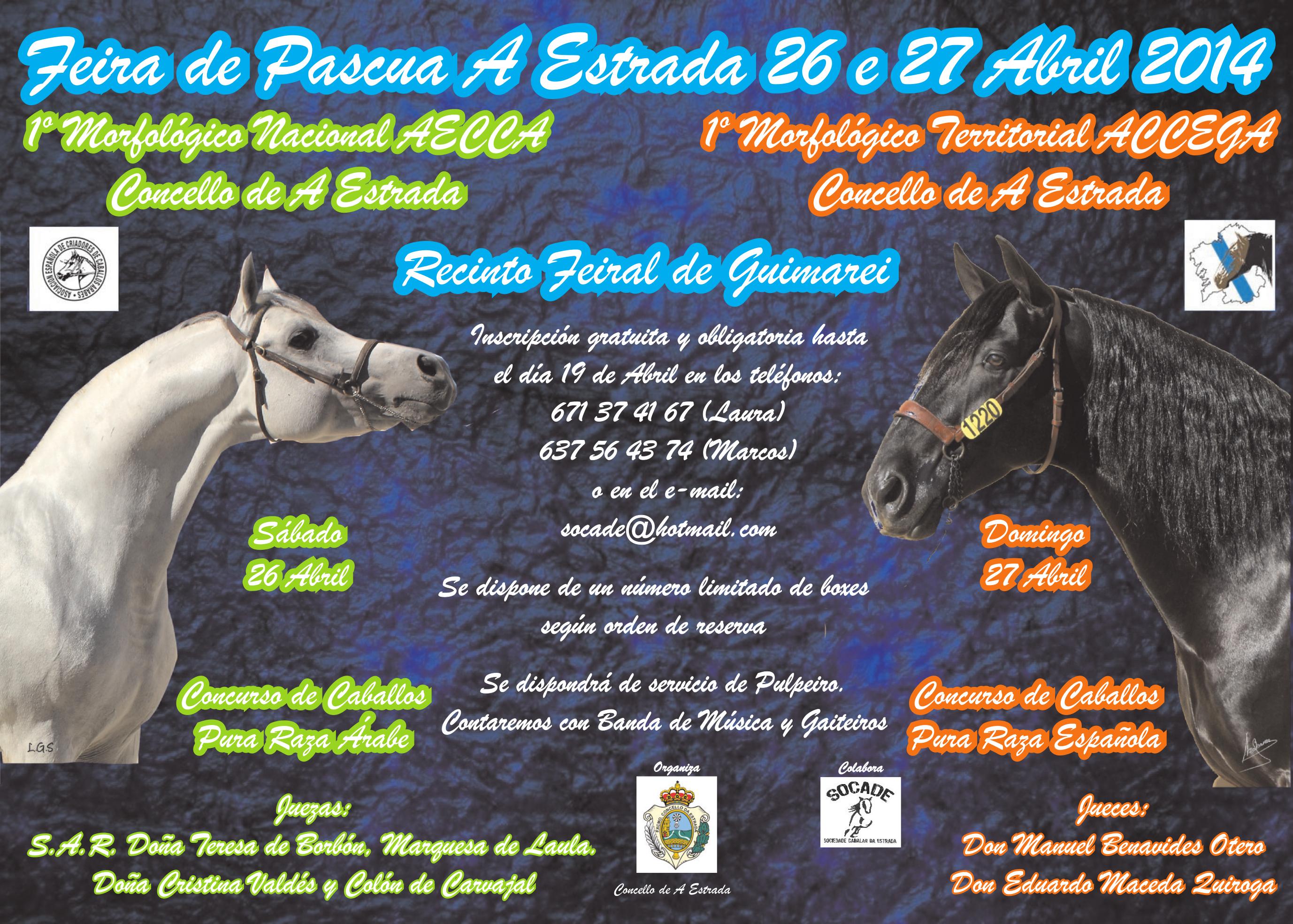 Cartel Feira Pascua 2014 A Estrada