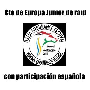campeonato de Europa Junior de raid ecuestre verona 2014