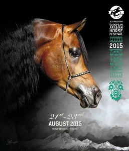 portada del Catálogo de concurso de caballos arabes en Polonia