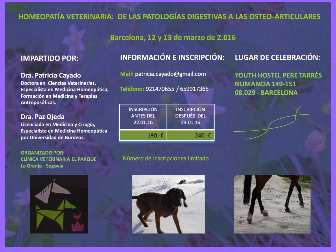 curso de homeopatia veterinaria en barcelona