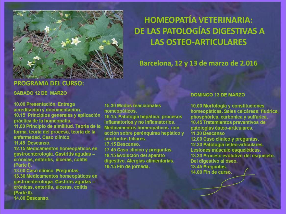 curso de homeopatia para veterinarios