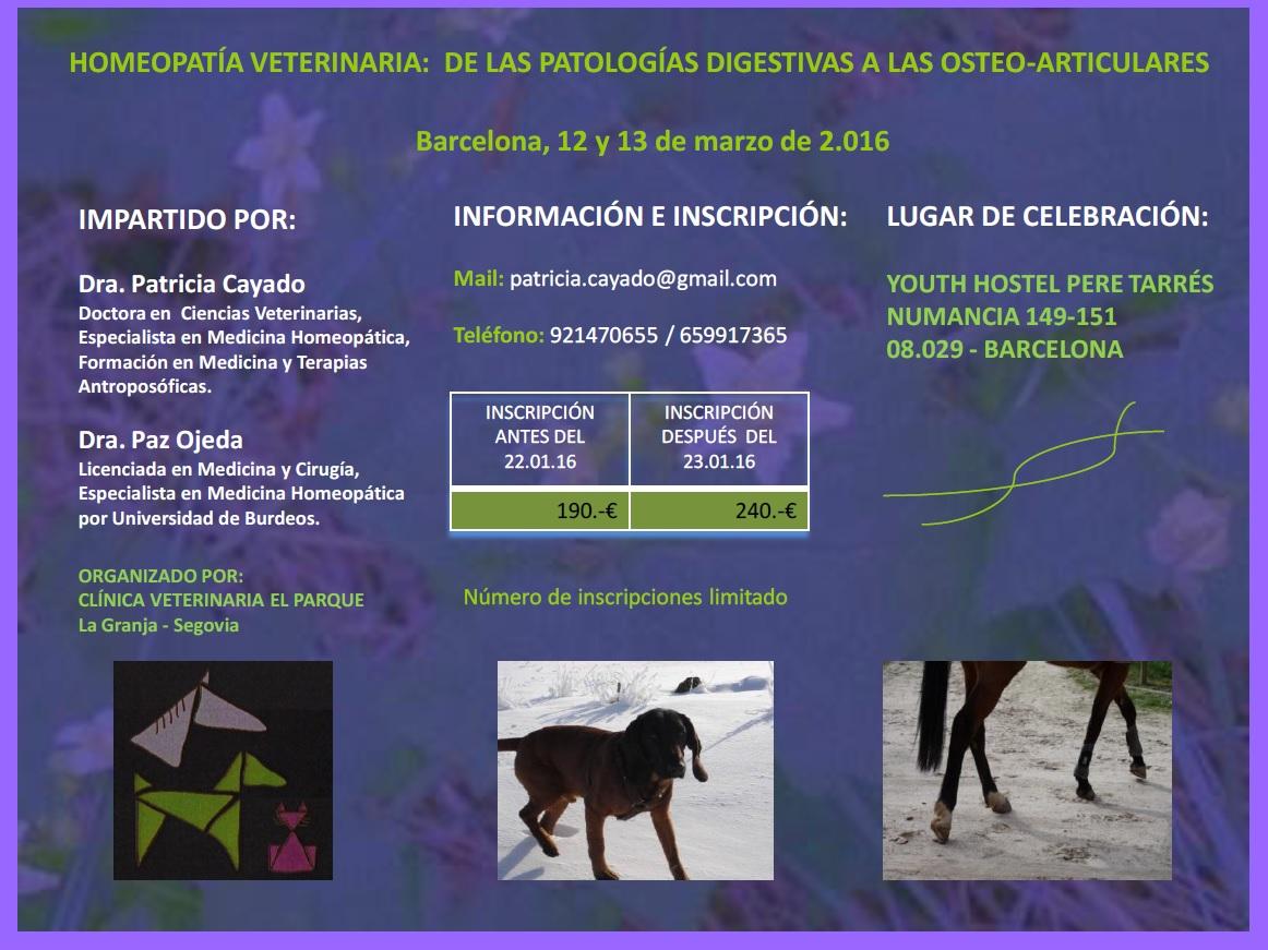 curso de homeopatia veterinaria en barcelona
