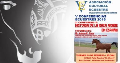 conferencia sobre el caballo arabe en Badajoz